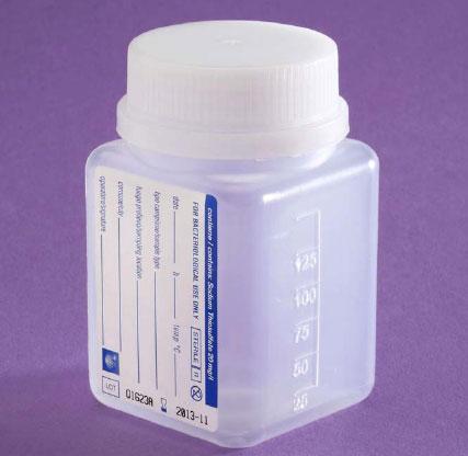 Bottiglia polipropilene per campionamento - 125 ml